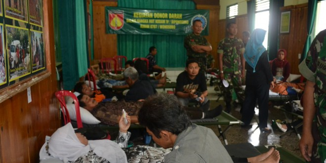 Donor Darah Kodam IV/Diponegoro Raih Rekor MURI