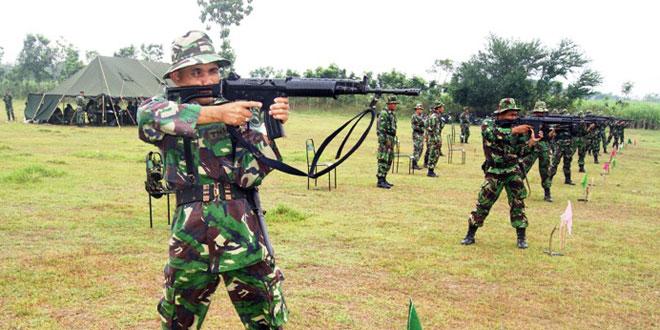 Latihan Menembak untuk memelihara Kemampuan Prajurit