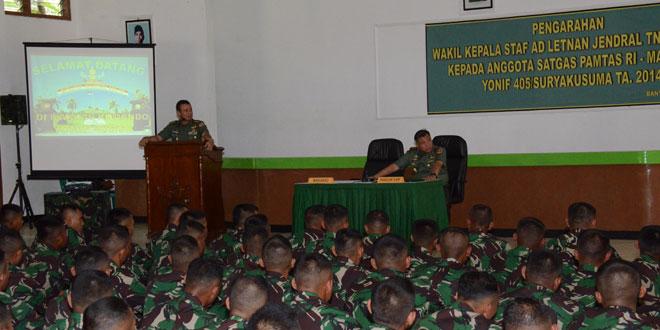 Yonif 405/SK Siapkan Tugas Pengamanan Perbatasan RI-Malaysia