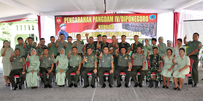 Kunjungan Kerja Pangdam IV di Kodim 0734/YKA