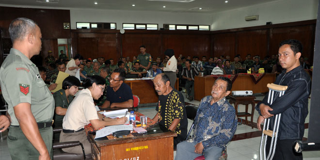Sosialisasi dan Evaluasi Kecacatan Prajurit, PNS dan Purna TNI di Makorem 072/PMK