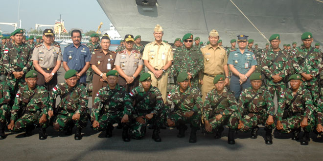 350 Prajurit Yonif 405/Surya Kusuma Laksanakan Tugas Pengamanan RI-Malaysia