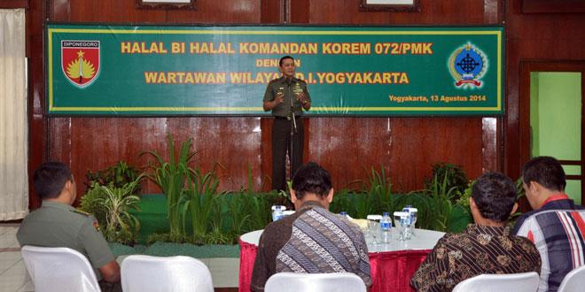Korem 072/Pamungkas Halal Bi Halal Dengan PWI Yogyakarta