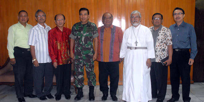 Pimpinan Umat Kristiani Wilayah Jateng Dan DIY Silaturahmi Ke Kodam IV/Diponegoro