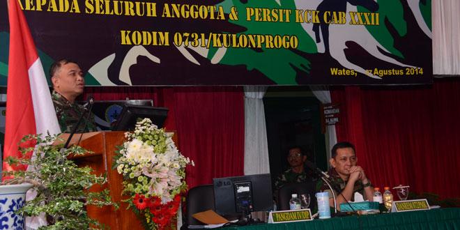 Pengarahan Pangdam IV/Diponegoro di Kodim 0731/Kulon Progo