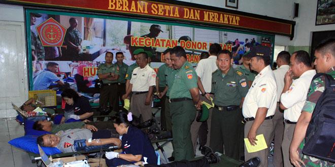 Prajurit Kodam IV/Diponegoro Laksanakan Donor Darah