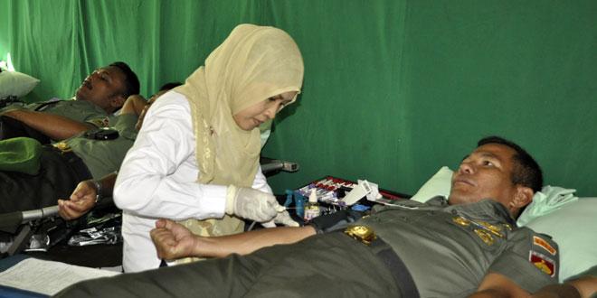 Ratusan Prajurit Ikuti Bhakti Sosial Donor Darah