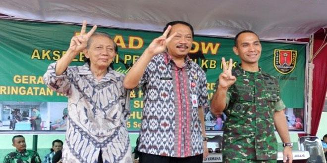 Road Show Akslerasi Pelayanan KB MKJP di Kodim 0733 BS/Semarang