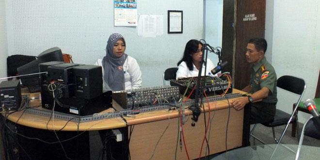 Dandim 0701/Banyumas Dialog Interaktif di RRI Purwokerto