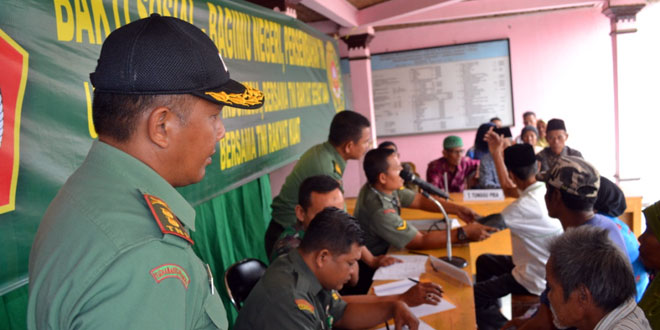 Kodim 0712/Tegal Menggelar Pengobatan Gratis di Desa Karangmalang