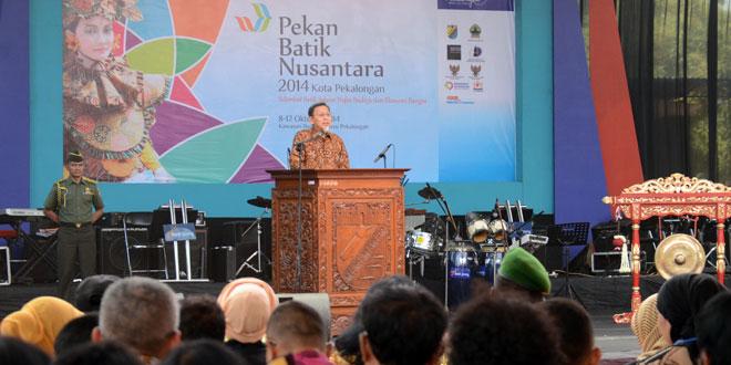 Wakil Presiden Menghadiri Pekan Batik Nusantara 2014 di Pekalongan