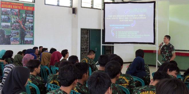 Pelatihan Bela Negara Bagi Mahasiswa di Kodim Tegal