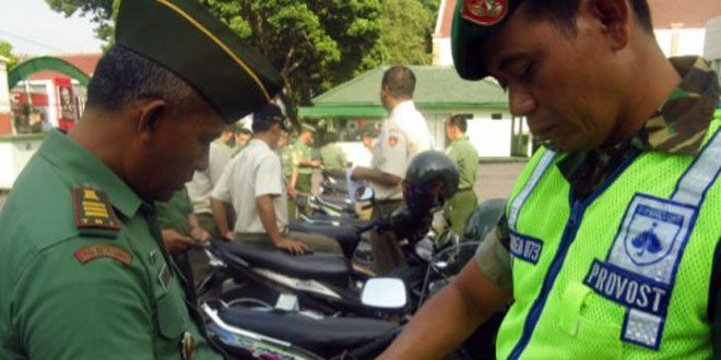 Korem 073/Makutarama Cek Kelengkapan Surat Kendaraan Bermotor