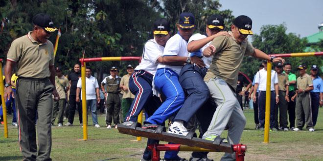Jalin Kebersamaan TNI-Polri Yogyakarta Olahraga Bersama