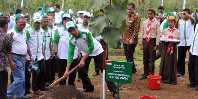 Presiden RI Pimpin Penanaman 1 Milyar Pohon