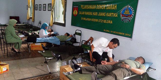 Kodim 0721/Blora Gelar Bhakti Sosial Donor Darah