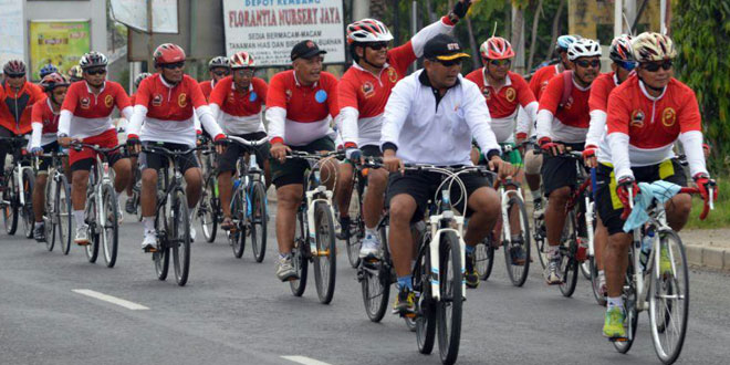 Danrem 071/WK Kampanyekan Bersepeda Lewat Touring Gowes