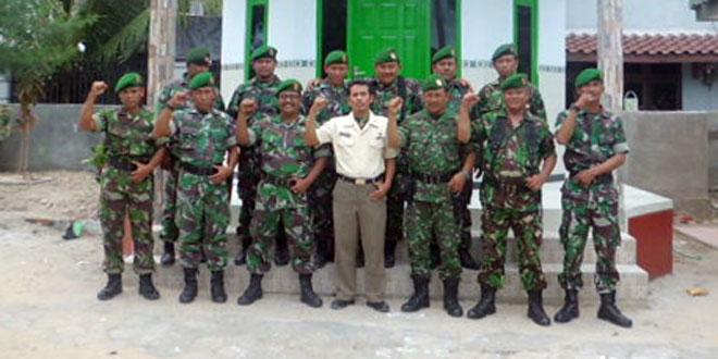 Pembangunan Mushola Koramil 14 Sarang Kodim Rembang