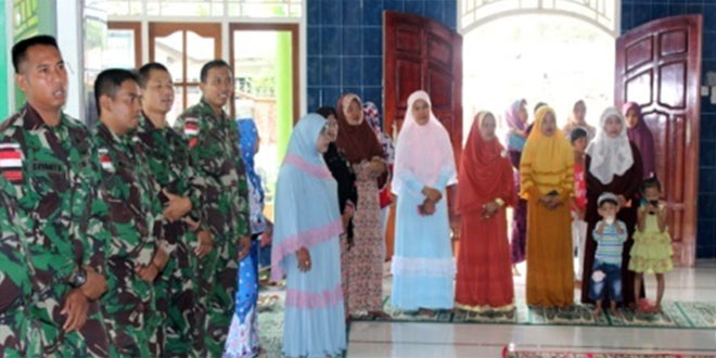 Peringatan Maulid Nabi Muhammad SAW Satgas Pamtas Yonif 400/Raider Bersama Masyarakat