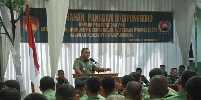 Kunjungan Kerja Pangdam IV/Diponegoro di Korem 071/WK dan Jajarannya