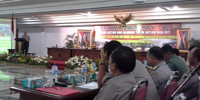 Dandim 0712/Tegal Menghadiri Rakor Sinergitas TNI Polri Tahun 2015