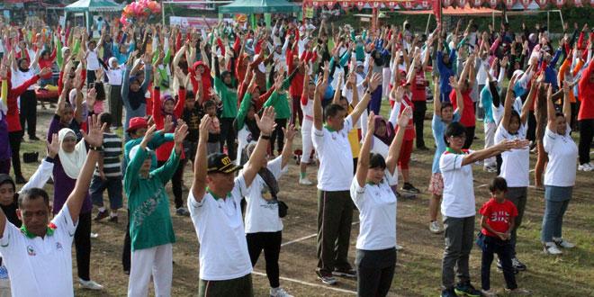 Senam Massal di Kodim 0734/Yogyakarta