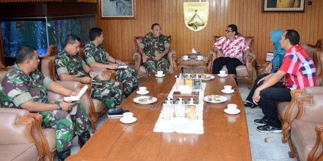 Pangdam IV/Diponegoro Menerima Audiensi Ketua KPID