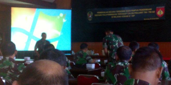 Dandim 0712/Tegal Mengikuti Pembekalan Rekrutmen Calon Prajurit TNI/TNI AD