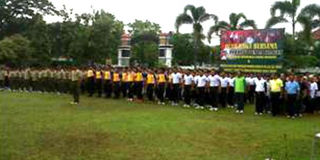 Olah Raga Bersama TNI, Polri dan Pemda Sragen
