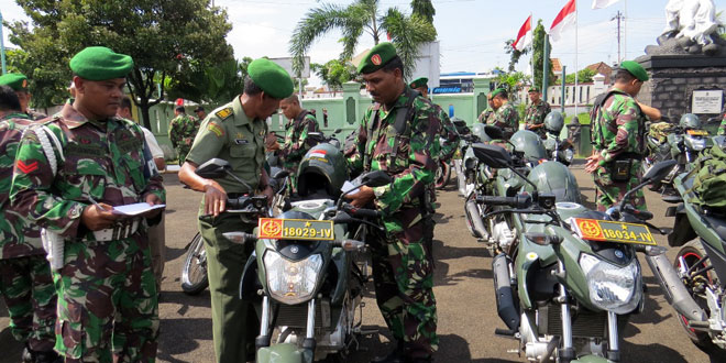 Pemeriksaan Sepeda Motor Dinas Bagi Anggota Kodim Brebes