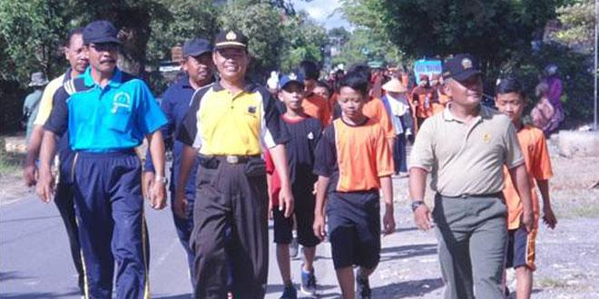 Gerak Jalan Sehat Dilanjutkan Bazar Produk Unggulan Tiap Desa se Kec. Sukodono