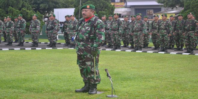 Kodim 0712/Tegal Melaksanakan Upacara Bendera di Lapangan Upacara Makodim 0712/Tegal