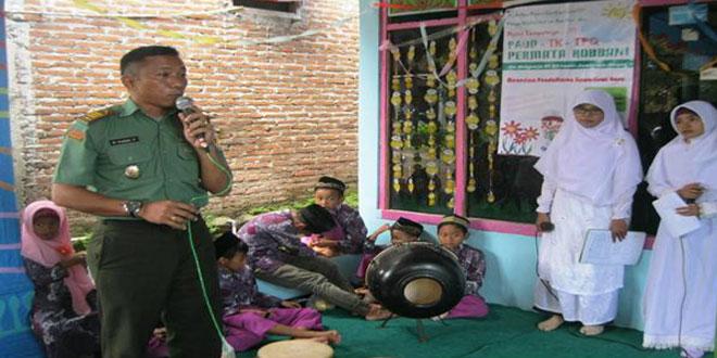 Danramil 08/Sambirejo Menghadiri Launching Peresmian PAUD – TPQ – TK Permata Robbani
