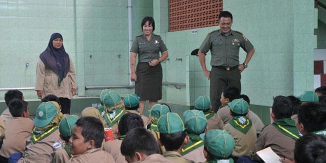 SD Muhamadiyah Ngupasan Belajar Mengenal TNI