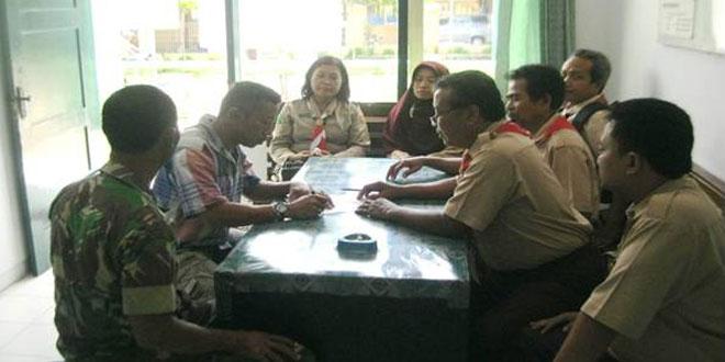 Danramil 08/Sambirejo Cofee Morning Dalam Rangka Peningkatan Produksi Beras Organik