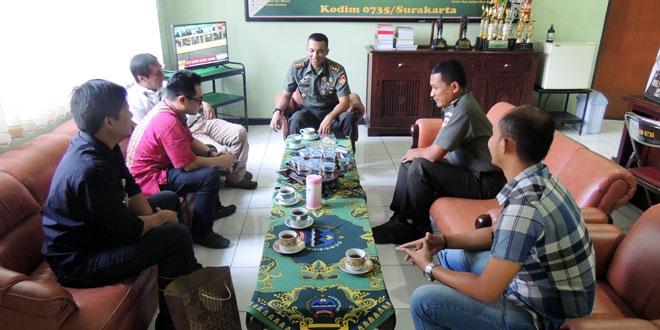 Visit Media Koran Jitu di Kodim 0735/Surakarta