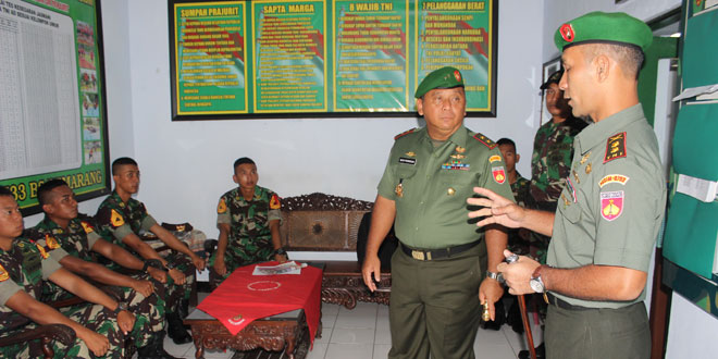 Pangdam IV/Diponegoro Kunjungi Kodim 0733-BS/Semarang
