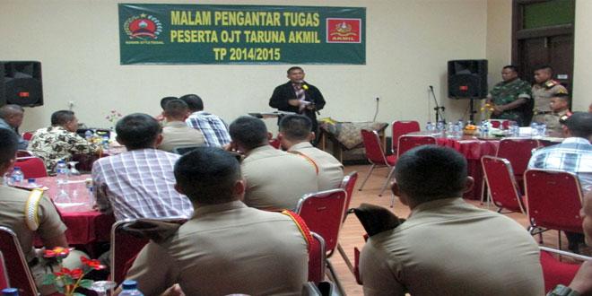 Kegiatan Malam Pengantar Tugas Latihan OJT Akmil Tahun 2015 Bertempat di Rumah Makan Tempo Doloe