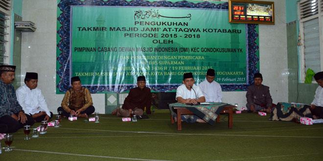 Danrem Saksikan Pengukuhan Takmir Masjid Jami' At-Taqwa Kotabaru
