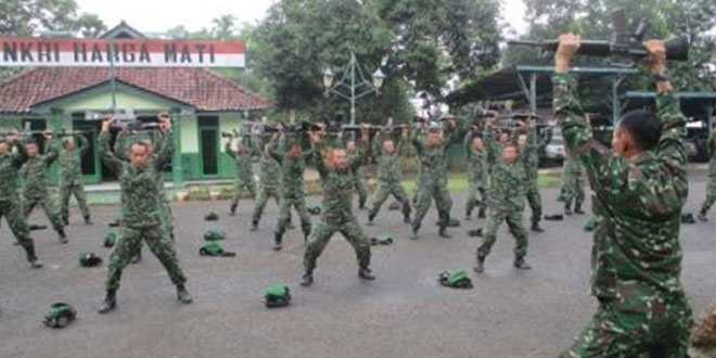 Senam Senjata Awal Minggu Militer Kodim 0711/Pemalang