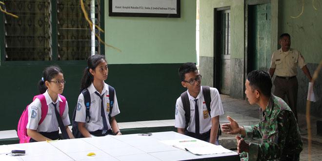 Siswa SMP 1 Kudus Laksanakan Penelitian Karya Ilmiah di Kodim Kudus