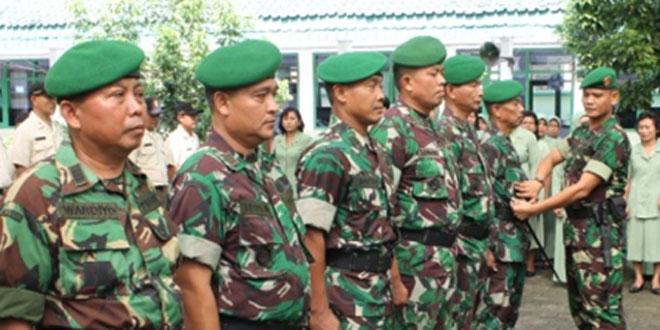 Koprs Raport Serah Terima Jabatan Perwira dan Pindah Satuan Bintara Kodim 0727/Karanganyar