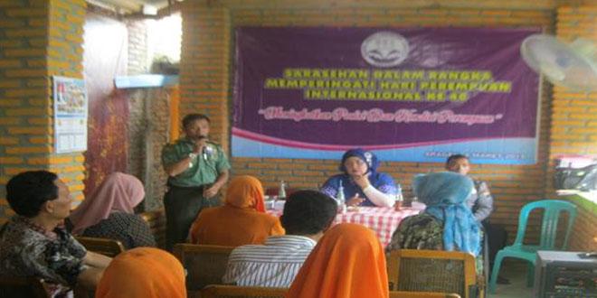 Danramil-08/Sambirejo Menghadiri Sarasehan Hari Perempuan