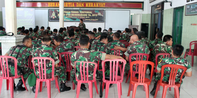 Latihan Teknis Teritorial Kodim 0733 BS
