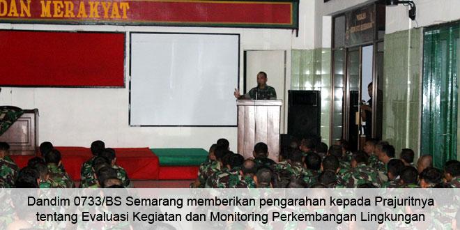 Kodim 0733/BS Semarang Evaluasi Kegiatan dan Monitoring Perkembangan Lingkungan Guna Antisipasi Potensi Konflik di Masyarakat