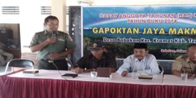 Danramil 06 Kramat Menghadiri Pelaksanaan RAT Gapoktan Jaya Makmur