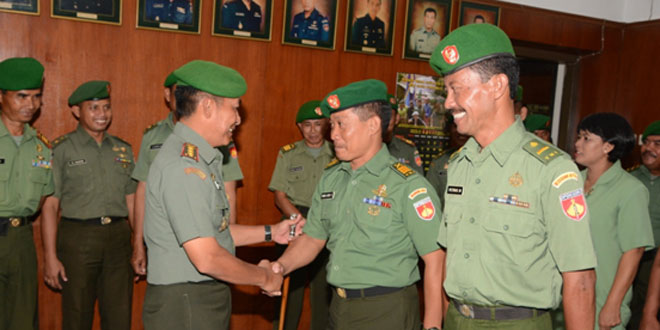 Laporan Korps Kenaikan Pangkat Prajurit Korem 074/Warastratama