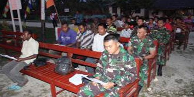 Peringatan Paskah Satgas Yonif 400/Raider di Kabupaten Keerom