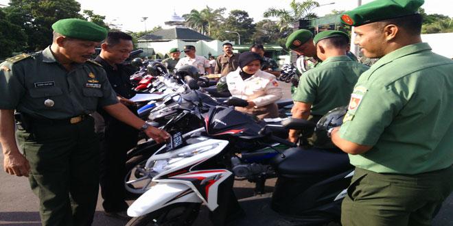 Pengecekan Kelengkapan Kendaraan Bermotor Anggota Kodim 0732/Sleman