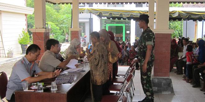 Anggota Koramil-19/Purwantoro Melaksanakan Pengamanan